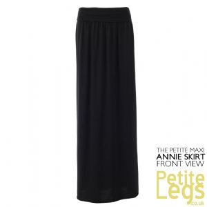 Annie Petite Maxi Skirt in Black | UK Size 10/12 | Ideal for Petite Height 4ft10